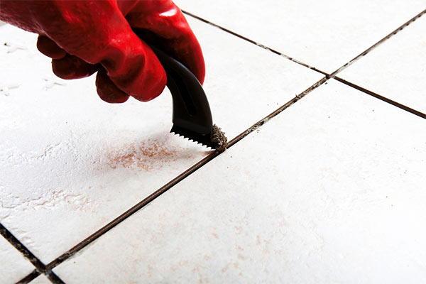 limpiar las juntas de los azulejos de la cocina