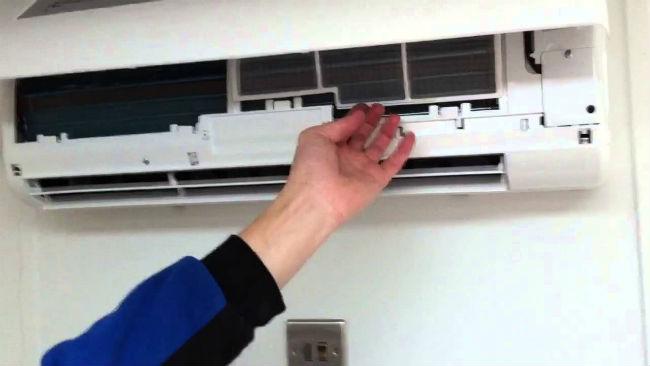 limpieza de un aire acondicionado