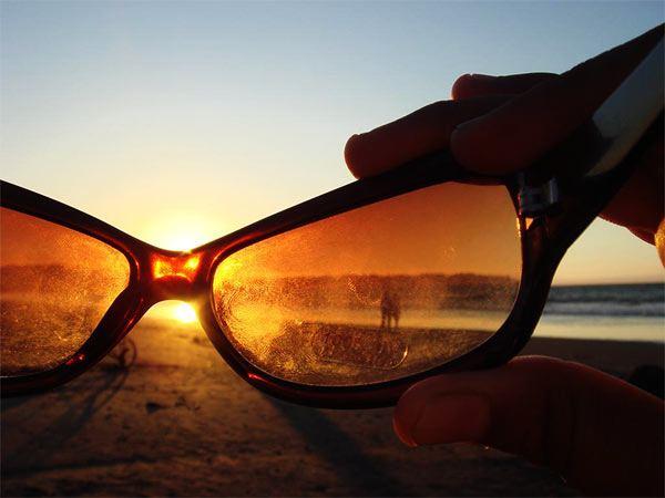 limpiar gafas de sol muy sucias