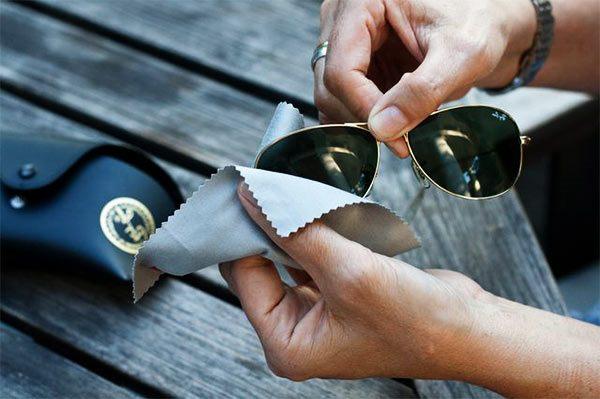 limpiar gafas de sol