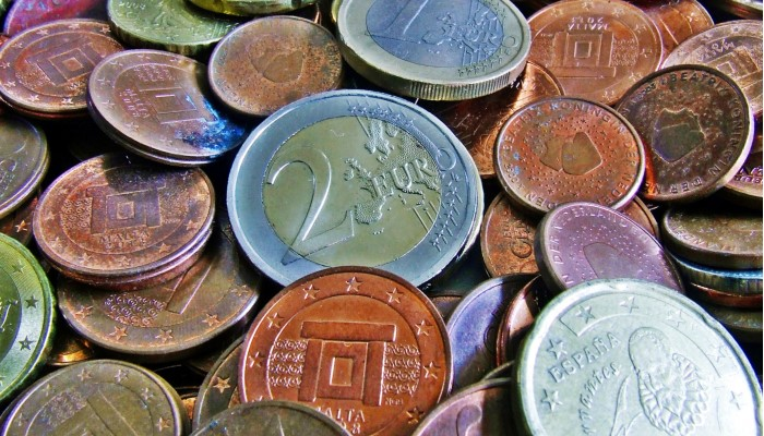 limpiar monedas de euro