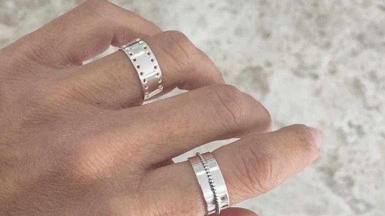 plata anillos